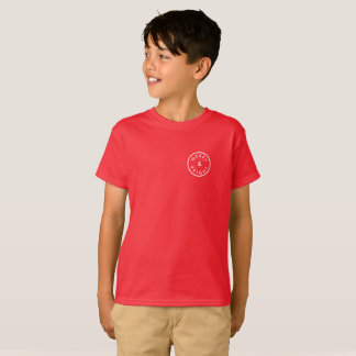 MERRY & BRIGHT Festive Stylish Seal Red Holiday T-Shirt