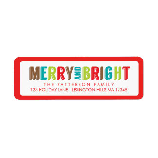 Merry & Bright Greetings Holiday Address Label