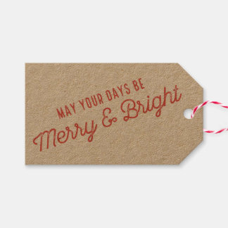 Merry & Bright Holiday Gift Tag Pack Of Gift Tags