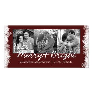 Merry & Bright Holiday Snowflake Photo Card