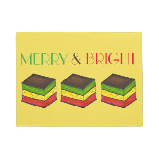 Merry & Bright Italian Rainbow Christmas Cookie Doormat