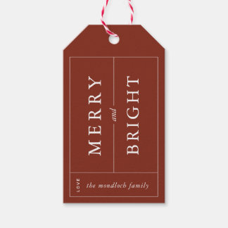 Merry & Bright Modern Gift Tag