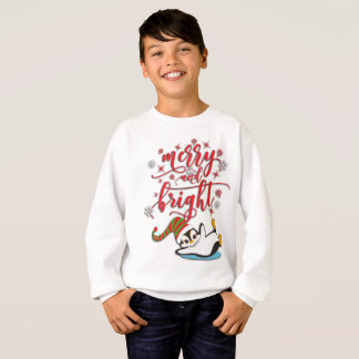 Merry & Bright Penguin Sweatshirt