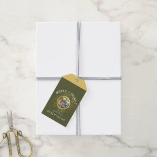 Merry + Bright Photo Gift Tag