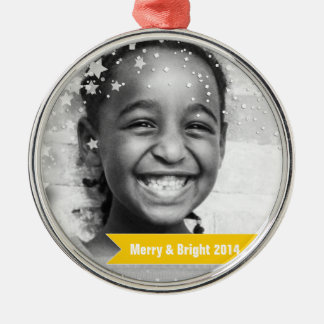 Merry & Bright Stars & Banners Metal Ornament