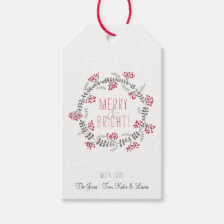 Merry & Bright Wreath Pack Of Gift Tags