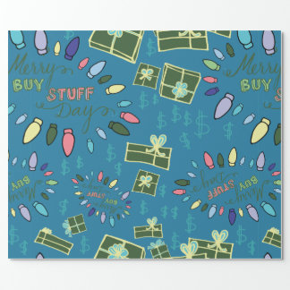 Merry Buy Stuff Day Wrapping Paper