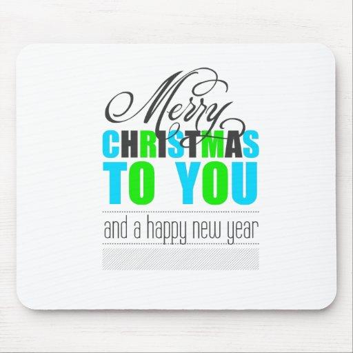 Merry Carte de voeux and happy new year Tapis De Souris