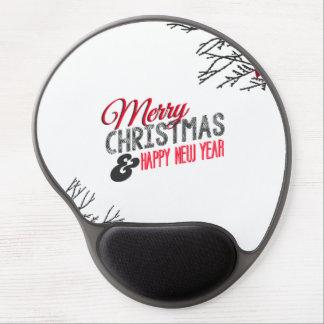 Merry Carte de voeux and happy new year Tapis De Souris Avec Gel