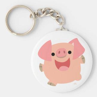 Merry Cartoon Pig keychain