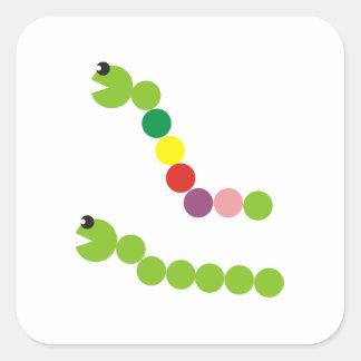 Merry caterpillars square sticker