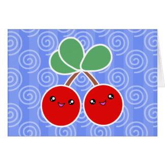 Merry Cherries Kawaii Birthday Card
