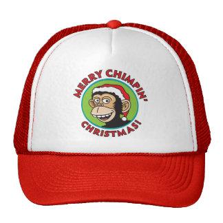 Merry Chimpin' Christmas Trucker Hat