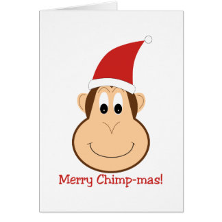 Merry Chimpmas! Christmas gifts Card