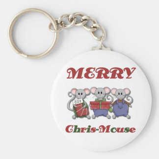 Merry Chris-Mouse Tshirts and Gifts Keychain