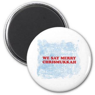 merry chrismukkah 2 inch round magnet