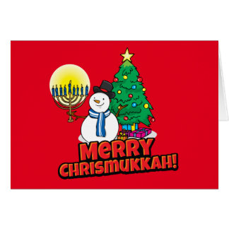 Merry Chrismukkah Jewish and Christmas Card
