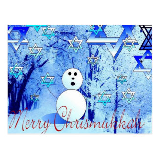Merry Chrismukkah Jewish Christmas Post Card Art