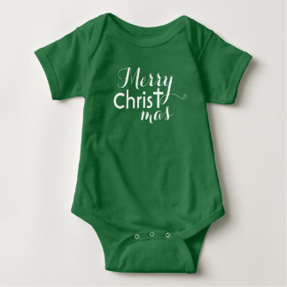 Merry Christ -mas Baby Bodysuit