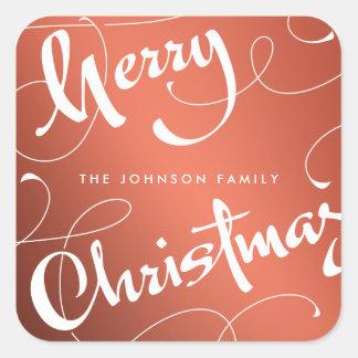 MERRY CHRISTMAS #1   SHINY   STICKER