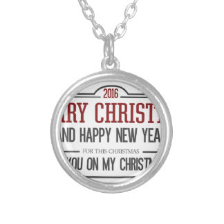 Merry Christmas 2016 Silver Plated Necklace