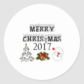 Merry Christmas 2017 stickers for your best places