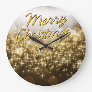 Merry Christmas 22 Wall Clock Options