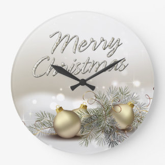 Merry Christmas 25 Wall Clock Options