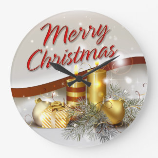 Merry Christmas 26 Wall Clock Options