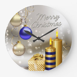Merry Christmas 28 Wall Clock Options