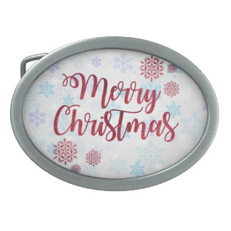 Merry Christmas 2 Belt Buckles