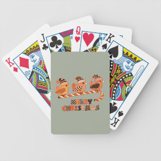 Merry Christmas 2 Bicycle Playing Cards