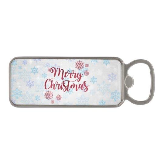 Merry Christmas 2 Magnetic Bottle Opener