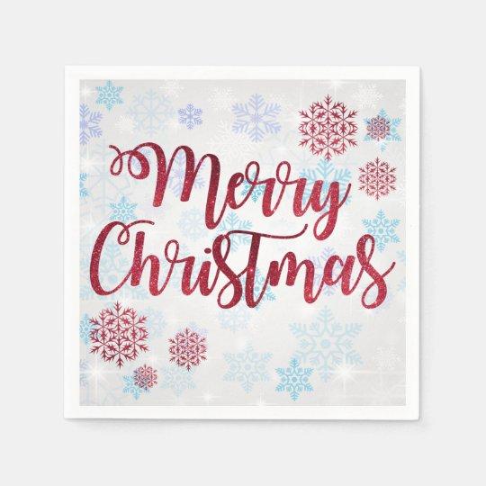 Merry Christmas 2 Paper Napkins