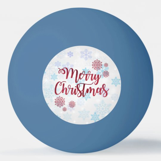 Merry Christmas 2 Ping Pong Ball