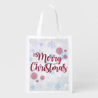 Merry Christmas 2 Reusable Grocery Bag