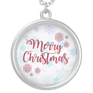 Merry Christmas 2 Silver Plated Necklace