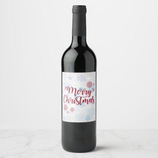Merry Christmas 2 Wine Label