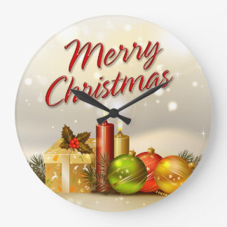 Merry Christmas 31 Wall Clock Options
