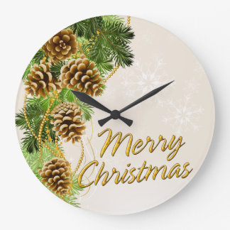 Merry Christmas 33 Wall Clock Options