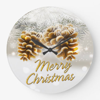 Merry Christmas 34 Wall Clock Options
