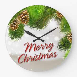 Merry Christmas 38 Wall Clock Options