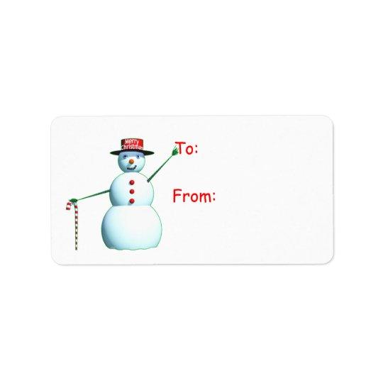 Merry Christmas 3D Snowman