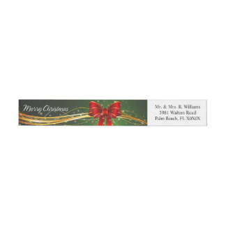 Merry Christmas 44 Wraparound Address Label
