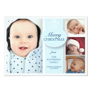 Merry Christmas 4 Photo in Blue Card