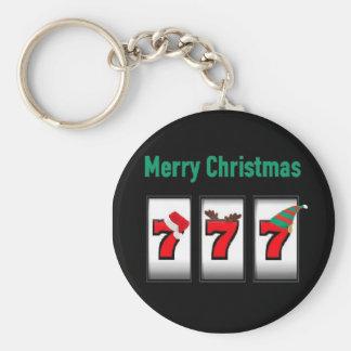 Merry Christmas 777 Keychain