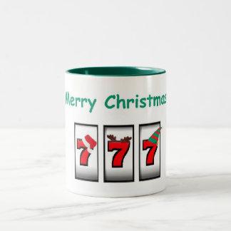 Merry Christmas 777 Slot Player Mug