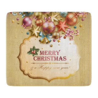 Merry Christmas 83 Glass Cutting Boards