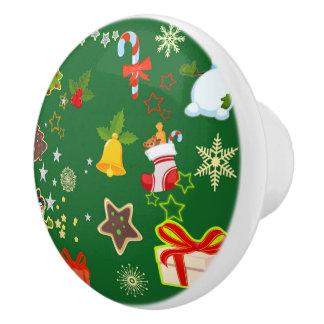 merry Christmas 917 Ceramic Knob