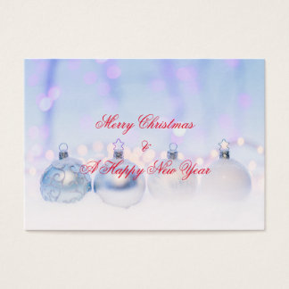 Merry Christmas & A Happy New Year Business Card